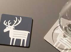 Ren auf Tabletts, Coaster, Schneidbrett & Kerzenständer etc.